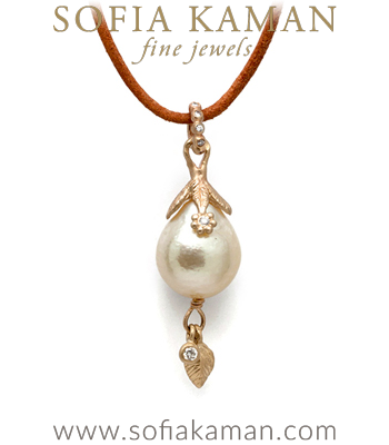 Pearl Bauble Pendant made in Los Angeles