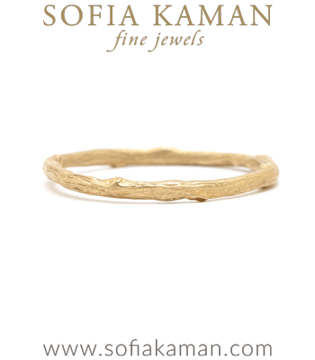 Organic Twig Boho Stacking Ring Natural Bohemian Wedding Band made in Los Angeles