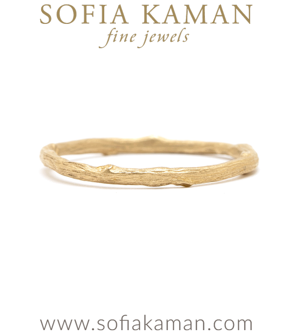 Organic Twig Boho Stacking Ring Natural Bohemian Wedding Band designed by Sofia Kaman handmade in Los Angeles using our SKFJ ethical jewelry process.
