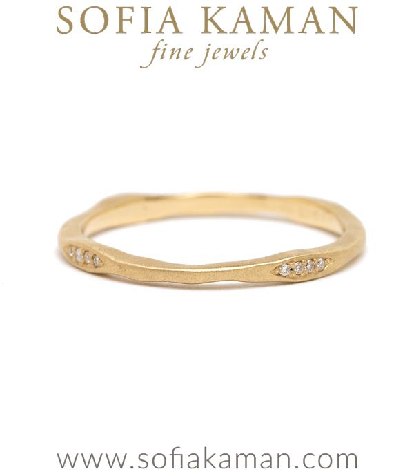 14k Gold Diamond Pod Stacking Ring