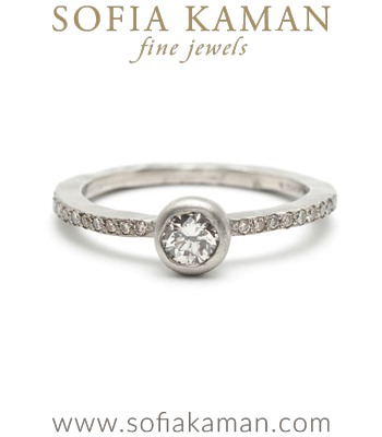 Pave Diamond Solitaire Bohemian Engagement Ring made in Los Angeles