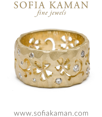 Wildflower Band with Diamond Accents made in Los Angeles