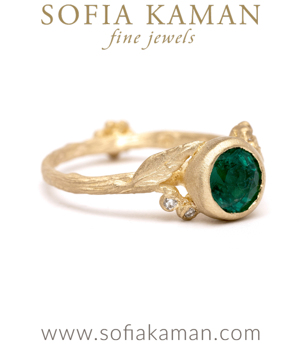 Daphe Ring With Emerald For Martina