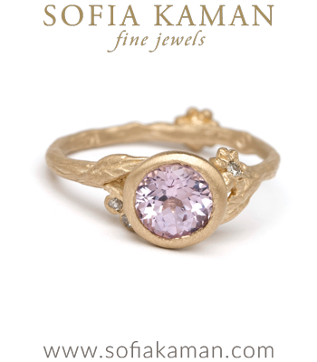 Gold Engagement Rings Lavender Sapphire Natural Organic Twig Bohemian Engagement Ring designed by Sofia Kaman handmade in Los Angeles