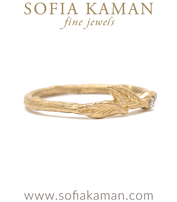Boho Gold Diamond Stacking Ring