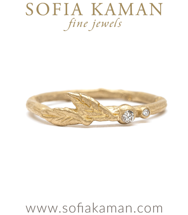 Sofia Kaman Gold Diamond Twig Stacking Band