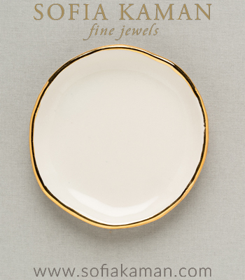 Gold Ring Dish for Mother's Day Gift or Bridesmaid designed by Sofia Kaman handmade in Los Angeles