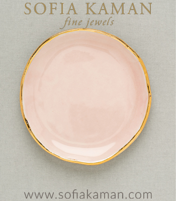 Rose Gold Ring Dish Perfect for a Gift or Bridesmaid designed by Sofia Kaman handmade in Los Angeles