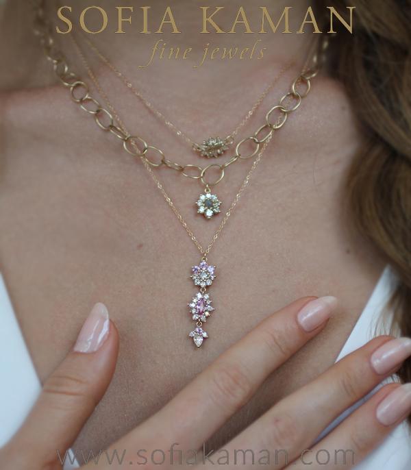 Diamond Sapphire Giardinetti Bohemian Necklace