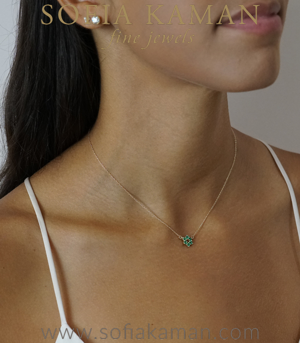 Emerald Bridal Necklace For Engagement Rings