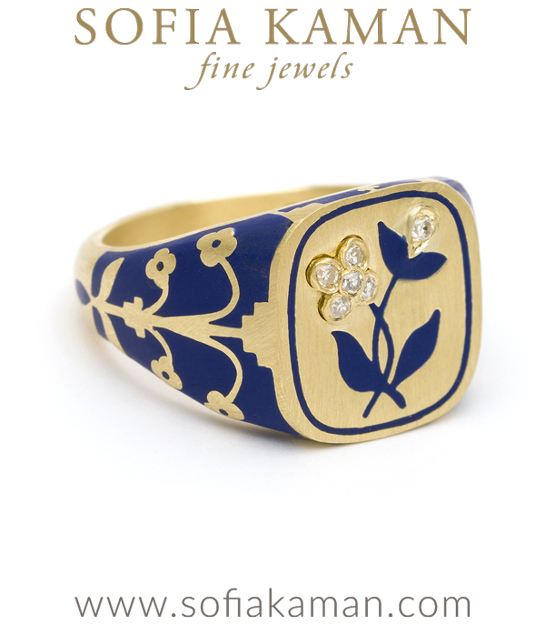 Lanuage Of Flowers Signet Ring