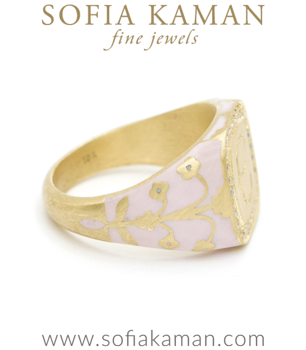 Language Of Flowers Cushion Signet Ring