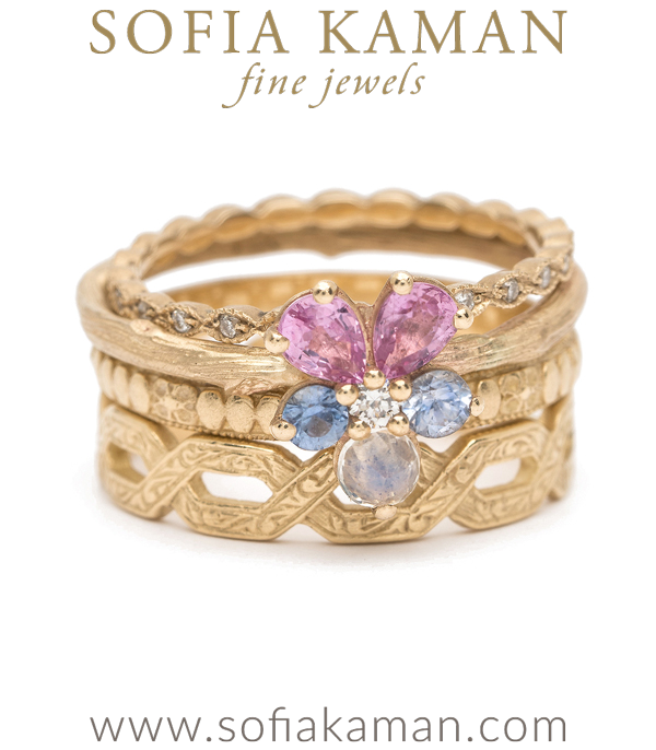 Sofia Kaman Bohemain Stacking Ring Set