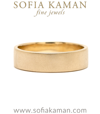14K Gold Smooth Classic 6mm Wedding Band For Men designed by Sofia Kaman handmade in Los Angeles