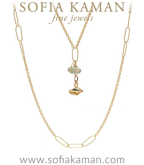 18k Gold Bohemian Layering Necklace
