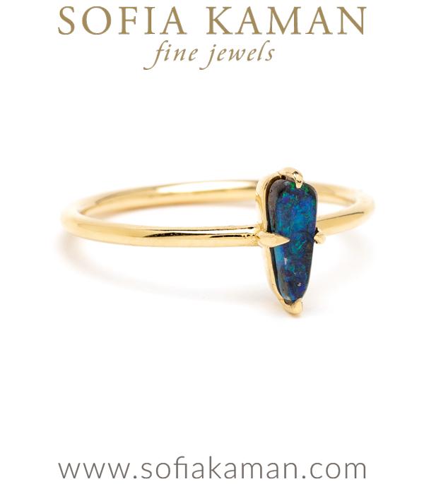 Boho Petite Boulder Opal Ring