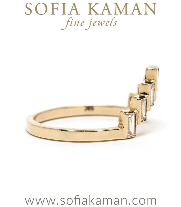 Diamond Baquette Boho Stacking Ring