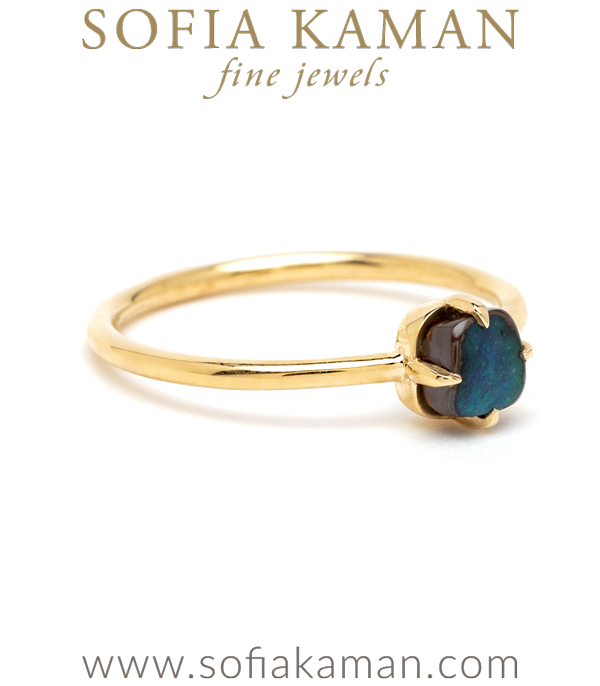 Boho Boulder Opal Stacking Ring