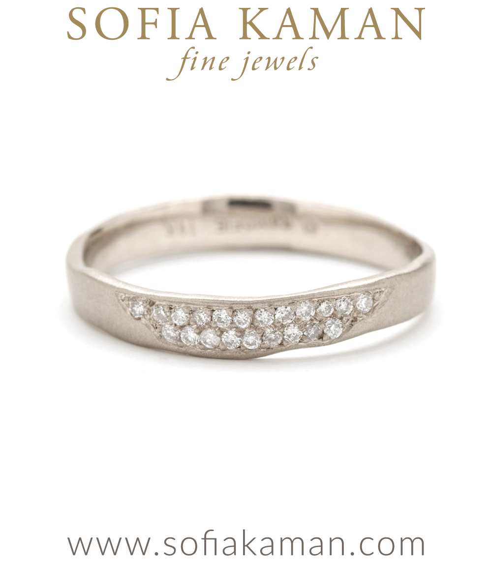 diamond emerald white timeless with the cut all around ring leaf eternity solitaire bridal band gold diamonds bands