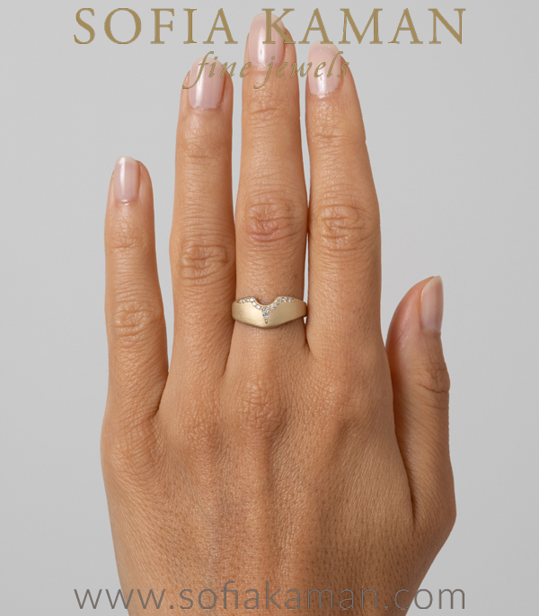 Matte Gold Wedding Band For Unique Engagement Rings