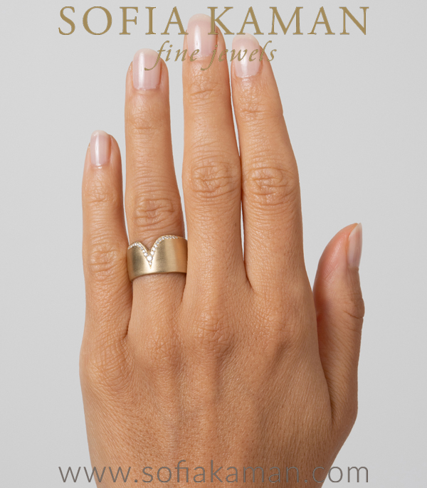 Sofia Kaman Unique Wedding Band For Unique Engagement Rings