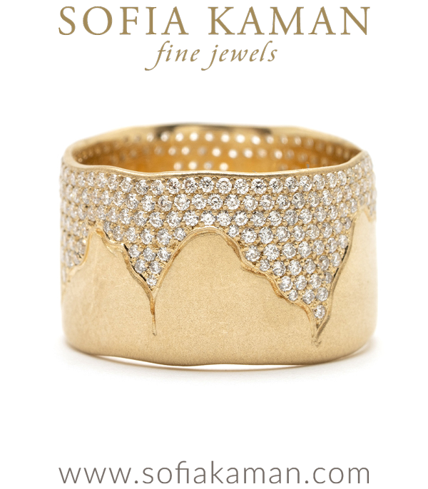 Diamond Cigar Band For Engagement Rings