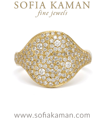 14k Gold Galaxy Pave Bohemian Statement Ring designed by Sofia Kaman handmade in Los Angeles