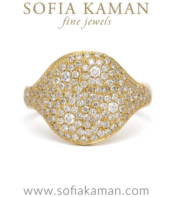 14k Gold Galaxy Pave Bohemian Statement Ring designed by Sofia Kaman handmade in Los Angeles using our SKFJ ethical jewelry process.