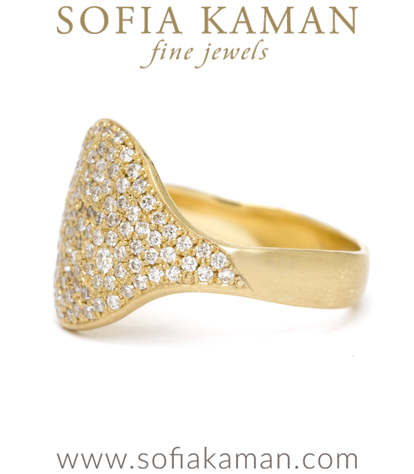 14k Gold Galaxy Pave Bohemian Statement Ring