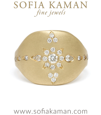 Bohemian Diamond Shield Ring