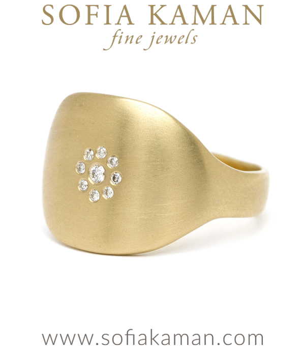 Petite Diamond Cluster Shield Ring