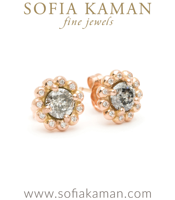 Bohemian Rustic Diamond Bridal Earrings