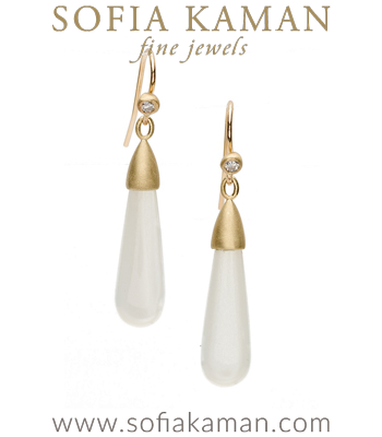 Gem Drop Earrings with Moonstone