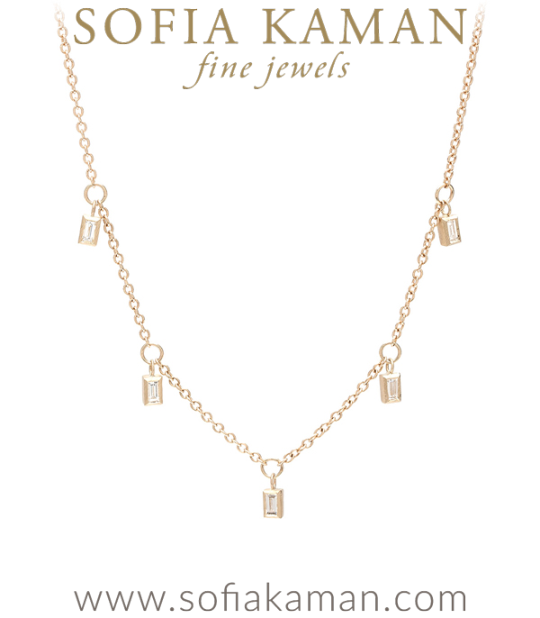 City Chic Diamond Baguettes Necklace