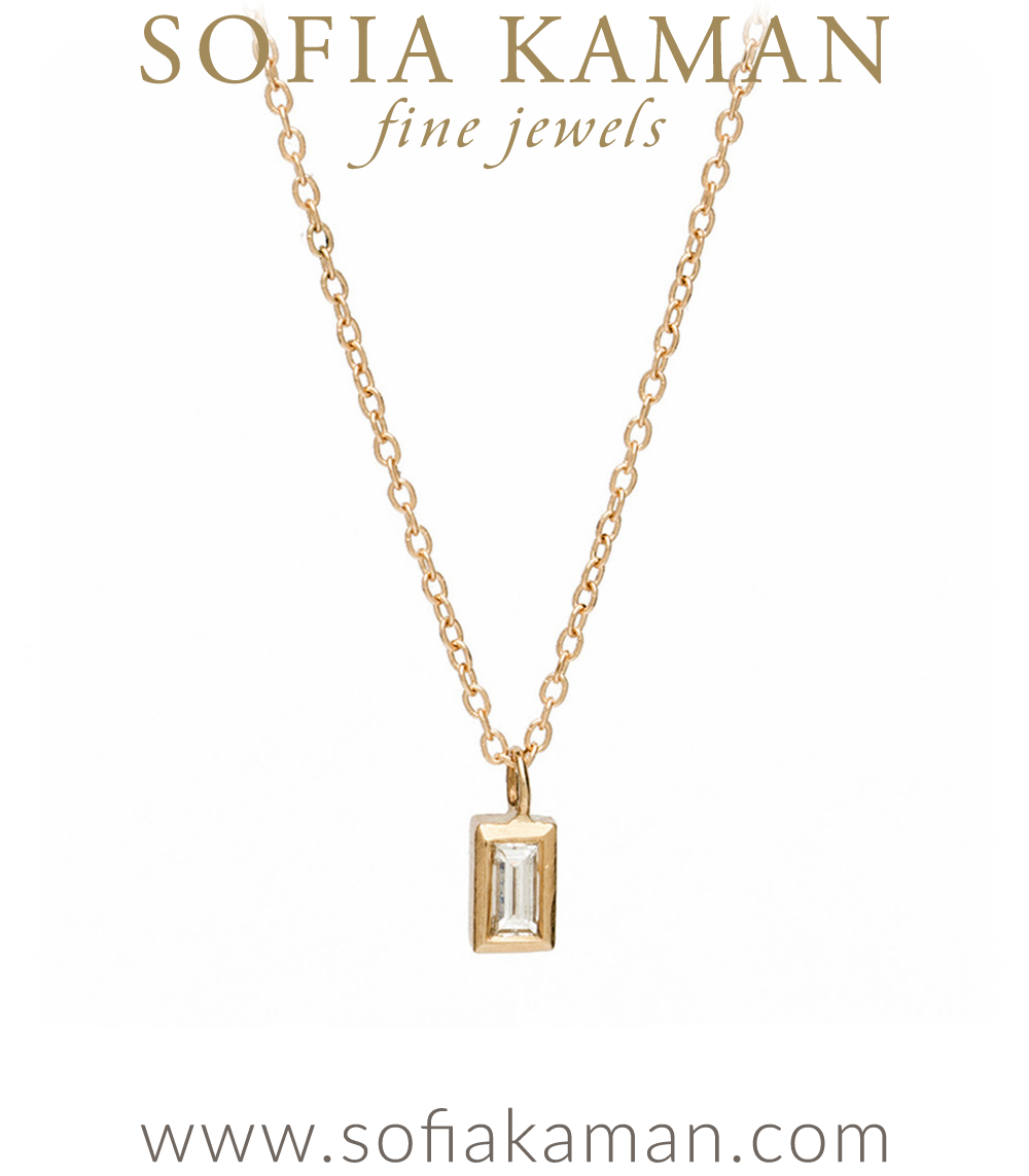 signature gold chain diamond mini baguette sliding jewelry collections regency inch set cable bezel pendant necklace tiny
