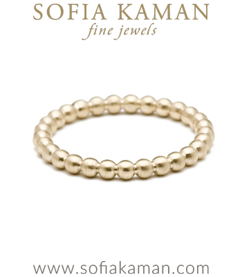 Gold Bubble Stacking Ring Bohemian Wedding Band designed by Sofia Kaman handmade in Los Angeles