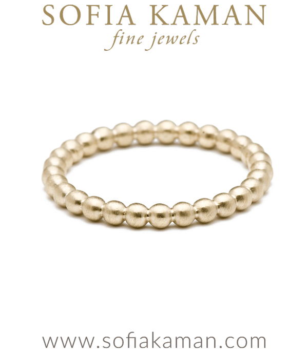 Gold Bubble Stacking Ring Bohemian Wedding Band designed by Sofia Kaman handmade in Los Angeles using our SKFJ ethical jewelry process.