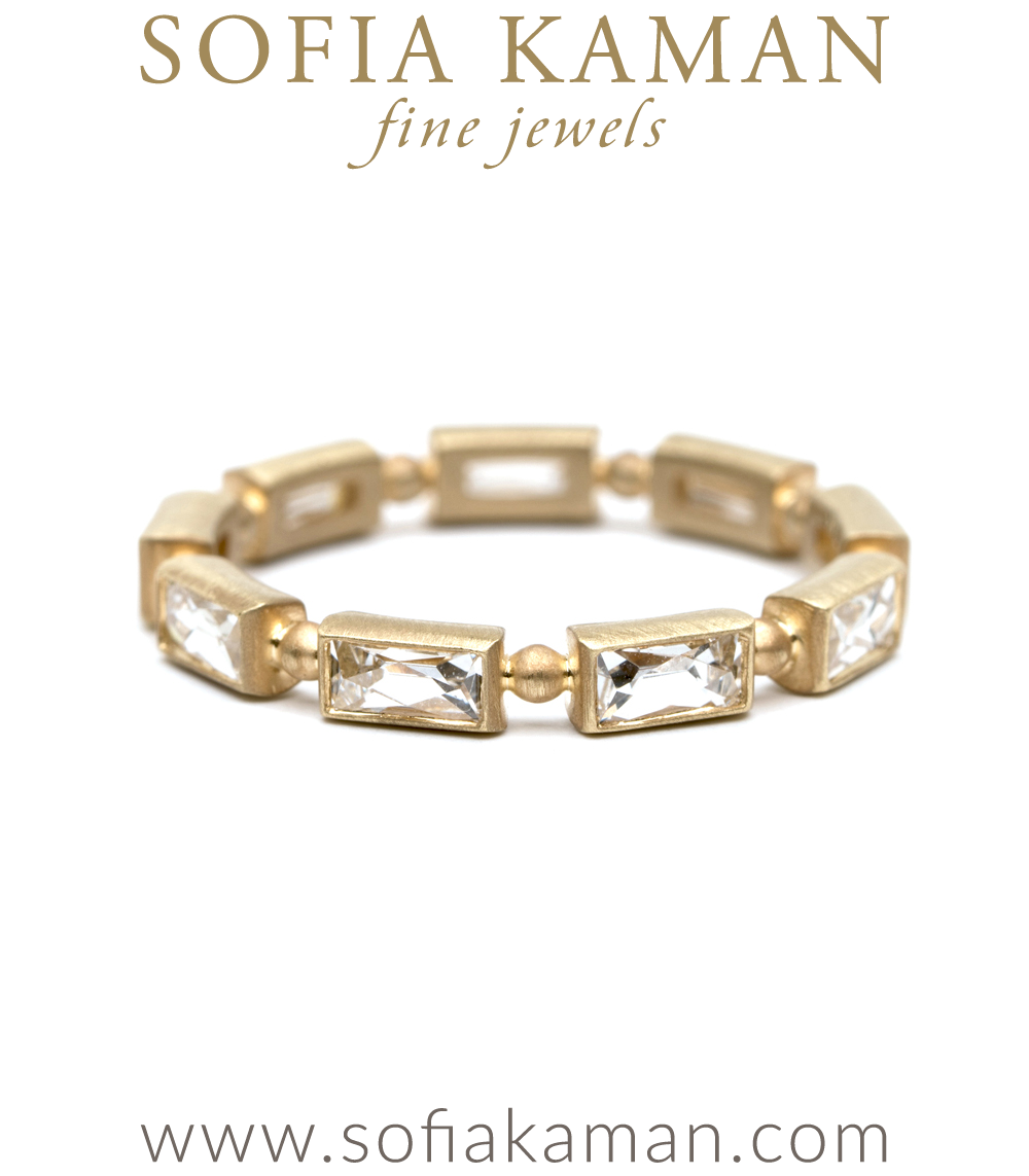 Regency French Cut Baguette Diamond Stacking Ring