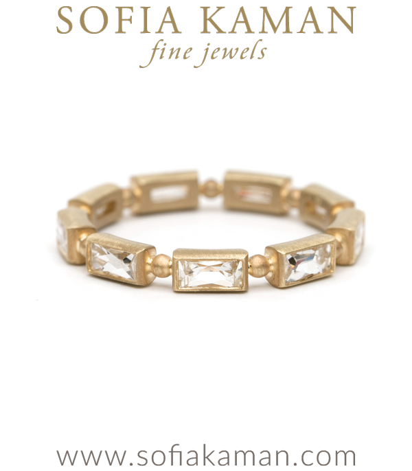 French Cut Baguette Diamond Stacking Ring