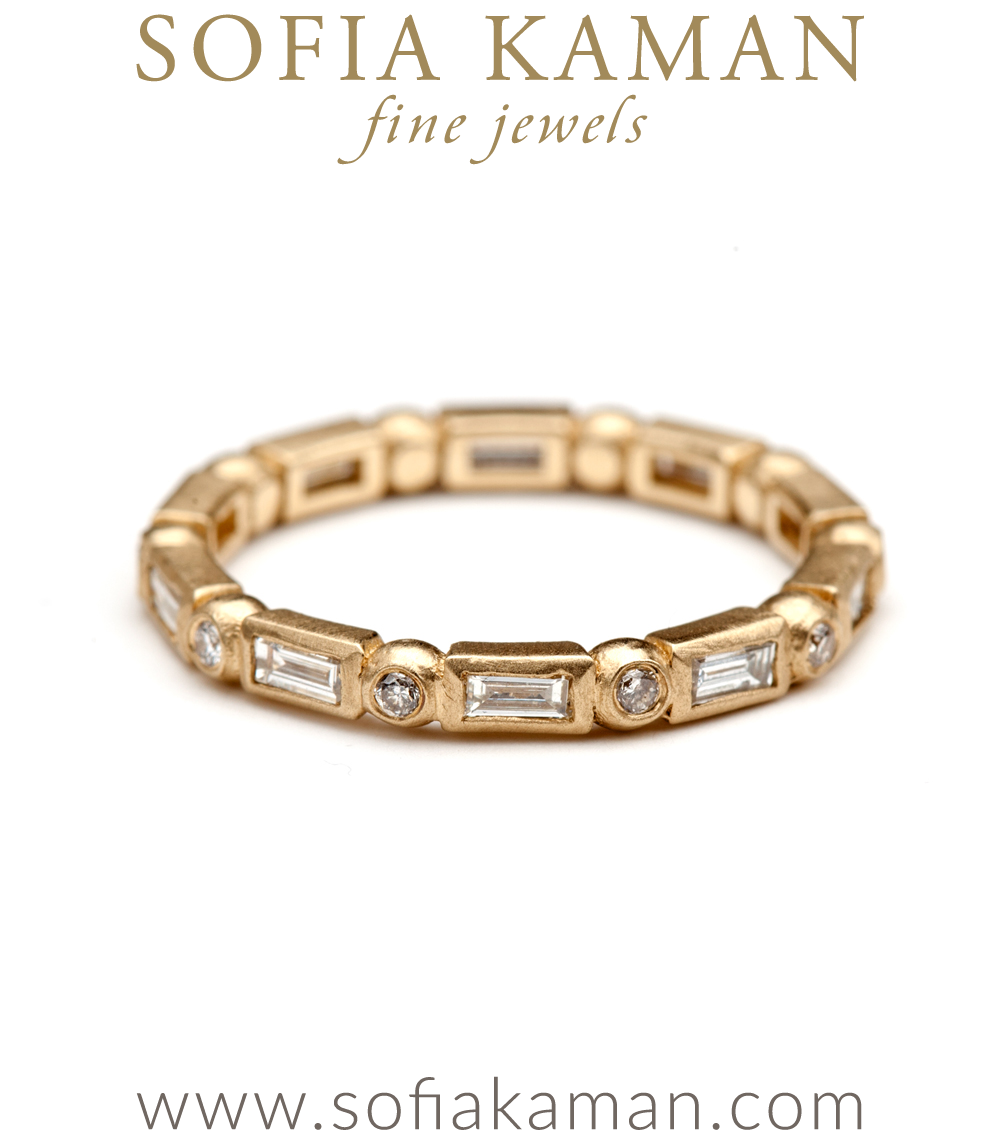 Regency Diamond Baguette And Pod Small Stacking Ring