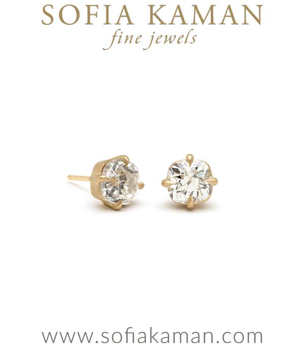 Sofia Kaman Diamond Stud Earrings