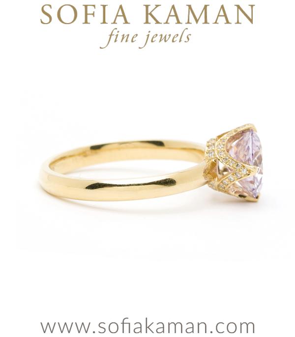 Pink Sapphire Bohemian Engagement Ring Sofia Kaman