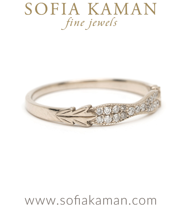 Vintage Inspired Gold Diamond Stacking Wedding Band
