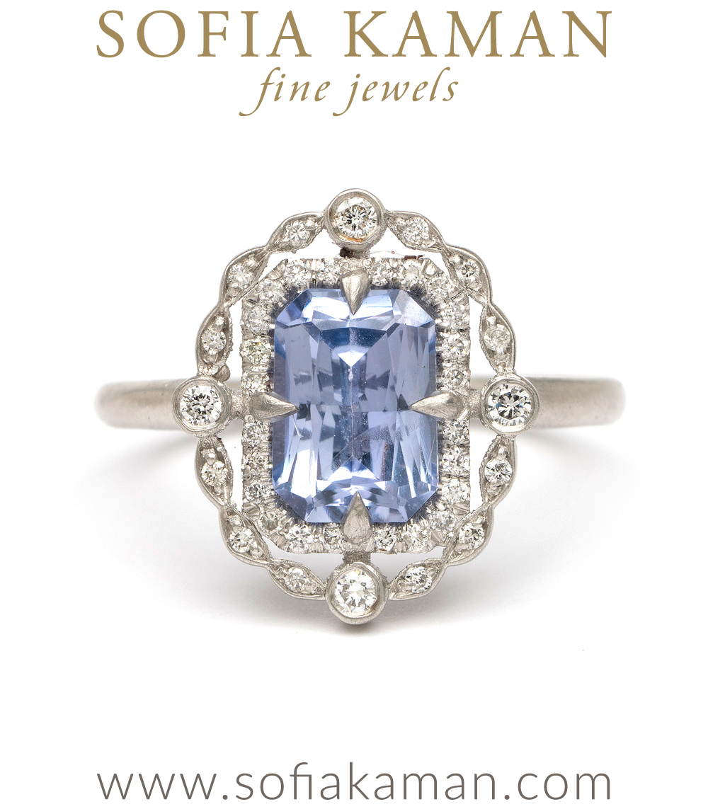 Sapphire Deco Decadence Marquise Cut Champagne Diamond Bohemian Enement Ring Designed By Sofia N Handmade In Los Angeles