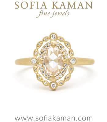 Deco Decadence-Rose Cut Diamond Ring made in Los Angeles