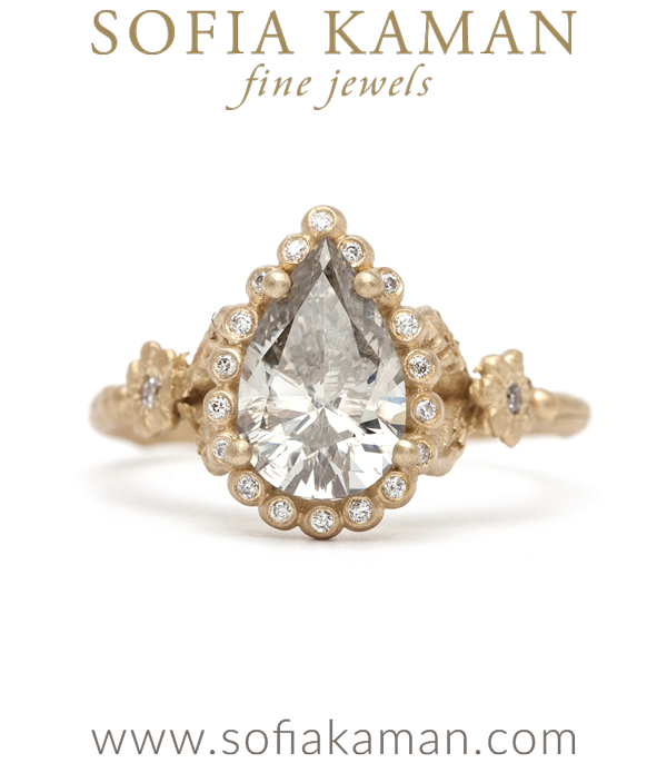 Sk Archive Dewdrops In The Garden Pear Shape Diamond Ring