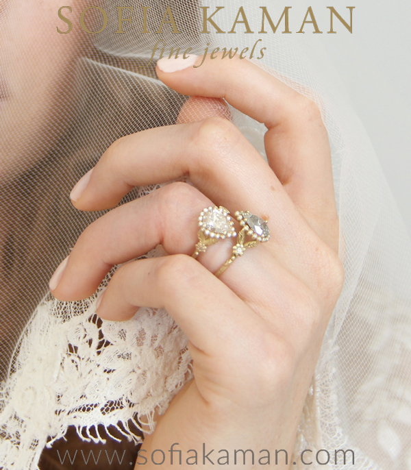 Dewdrops In The Garden Ring With Pear Shaped Diamond Shown