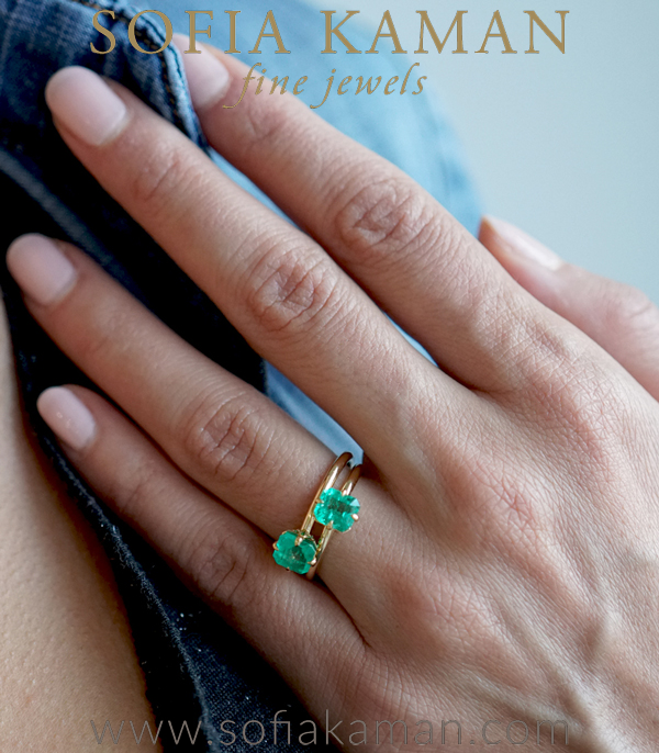 Bohemian Emerald Solitaire Engagement Ring