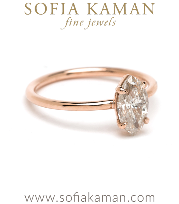 14k Rose Gold Salt And Pepper Diamond Engagement Ring