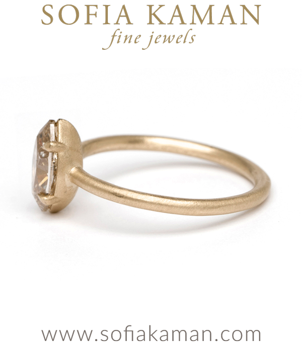 Simple Solitaire With Champagne Diamond Marquise